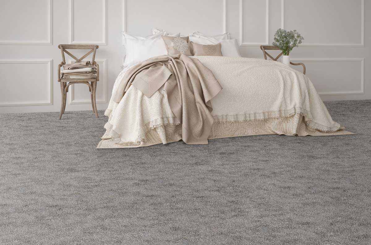 St. Regis Gray Carpet in a Bedroom